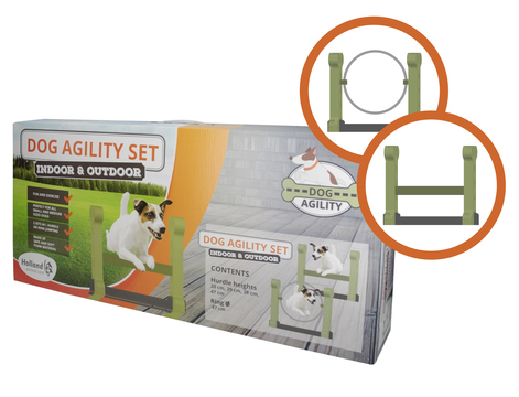 Dog Agility set (indoor en outdoor)
